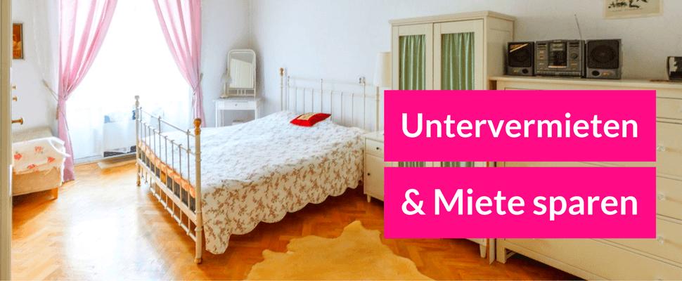 untervermieten miete sparen. Black Bedroom Furniture Sets. Home Design Ideas